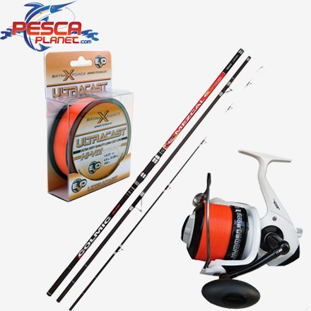 Kit surfcasting canna colmic mulinello evo